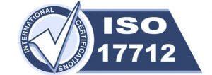 ISO 17712 gecertificeerd